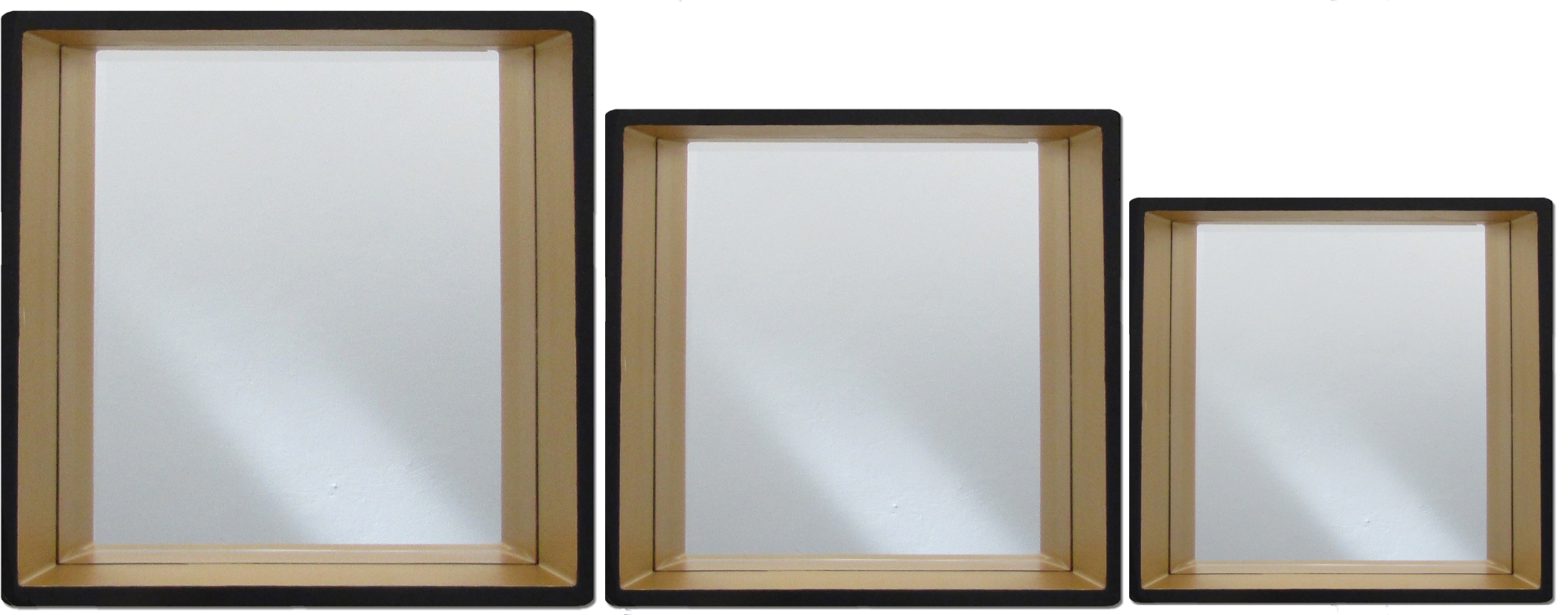 Recessed square mirrors 530 430 330