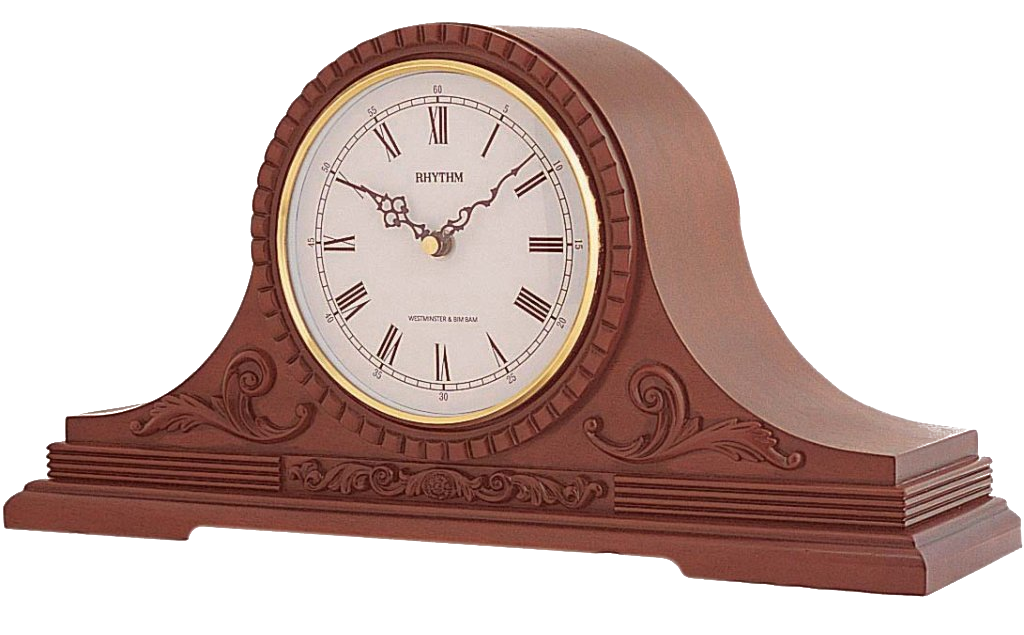 Rhythm Wooden Mantel Clock
